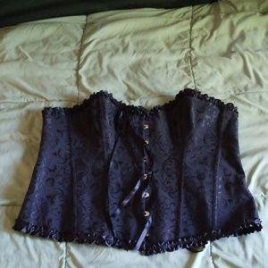 Other - Black brocade costume corset